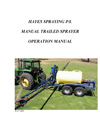Operator Manual for Manual Fold Trailer